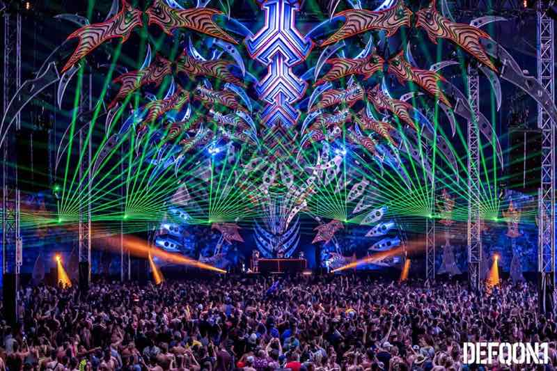 Laser show at Defqon 1 Weekend Festival