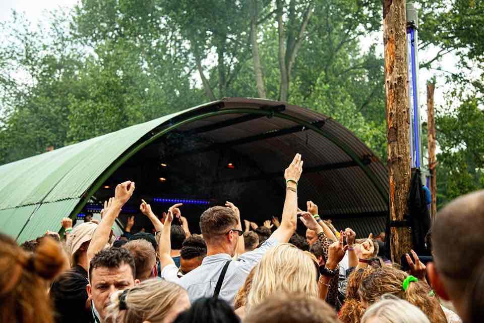 Fans enjoying at Dekmantel Festival