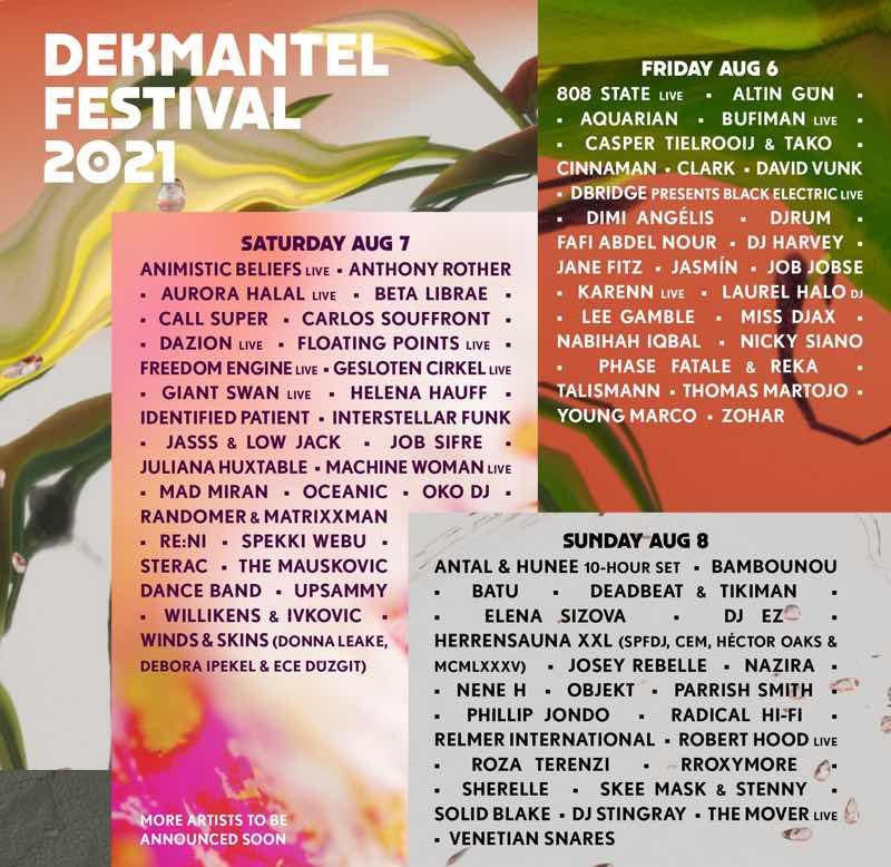 Dekmantel Festival 2021 Program Lineup