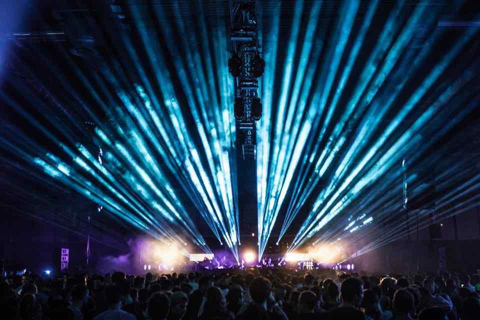 Lights show at DGTL Madrid Festival