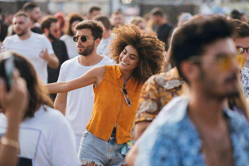 Smiling at DGTL Tel Aviv Festival