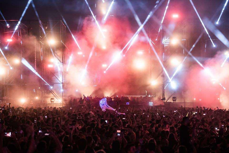 Lights show at DGTL Tel Aviv Festival