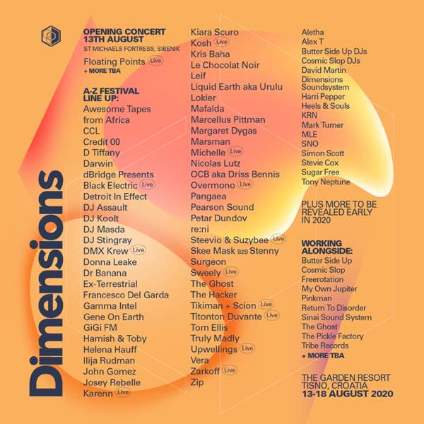 Neptune Festival 2020.Dimensions Festival First Wave 2020 Lineup 13 18 Aug