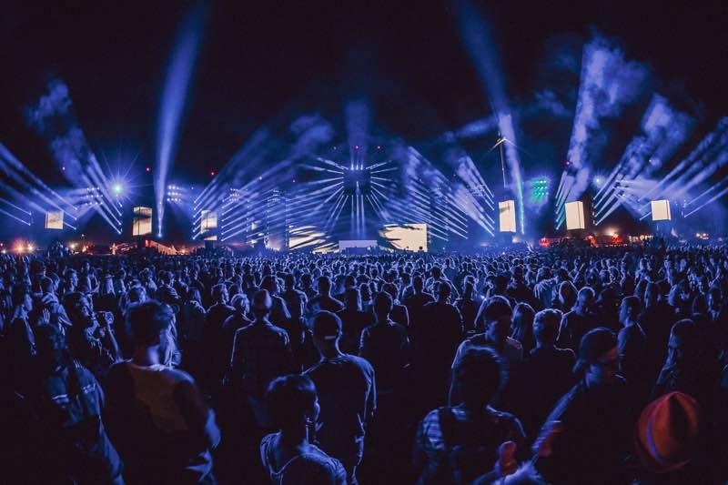 Stage blue lights at Dour Festival