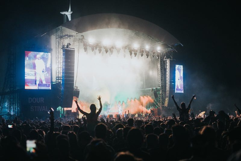 Stage lights show at Dour Festival