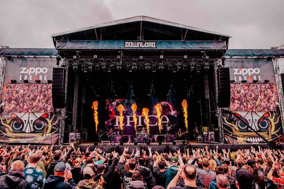 Dancing at main stage at Download Festival
