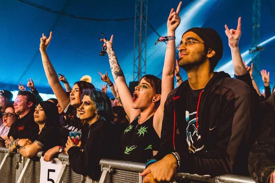 Fans enjoying at Download Festival