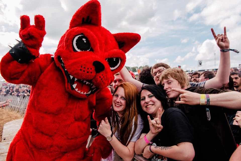 Having fun at Download Festival