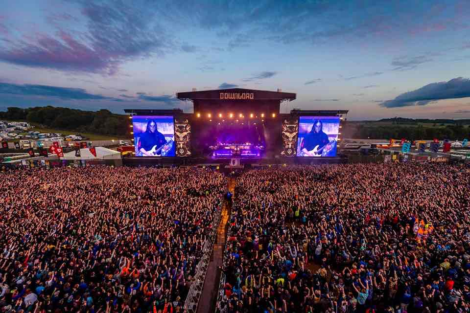 Main stage sky at Download Festival