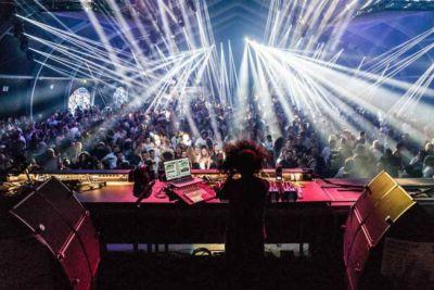 Lights at indoor stage at Drumcode Festival