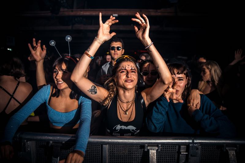 Front row fans at Drumcode Festival Malta