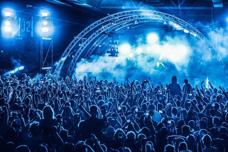 Stage colours at Drumcode Festival Malta