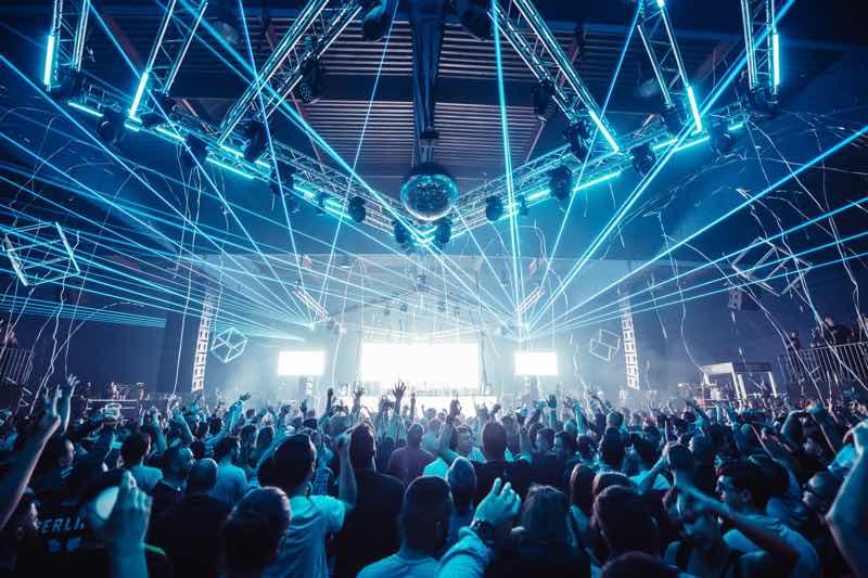 Stage laser show at Drumcode Festival Malta