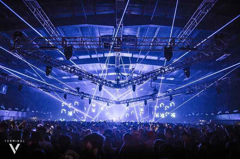 Stage lights show at Drumcode Scotland Terminal V Festival