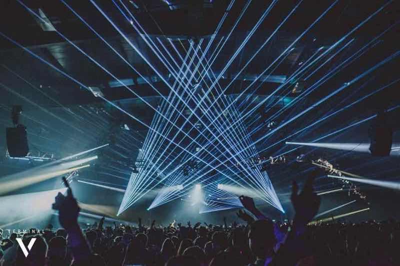 Lights show at Drumcode Scotland Terminal V Festival
