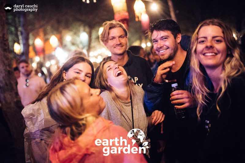 Fans enjoying at Earth Garden Festival