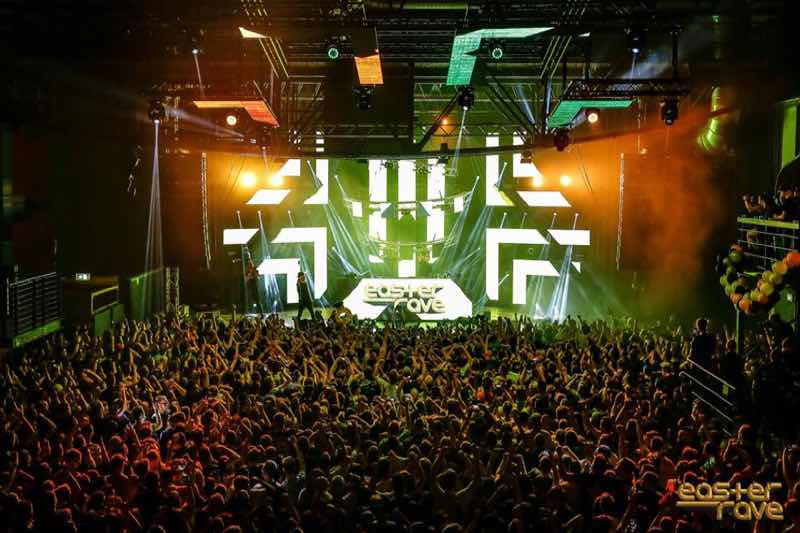 Stage view at Easter Rave Festival