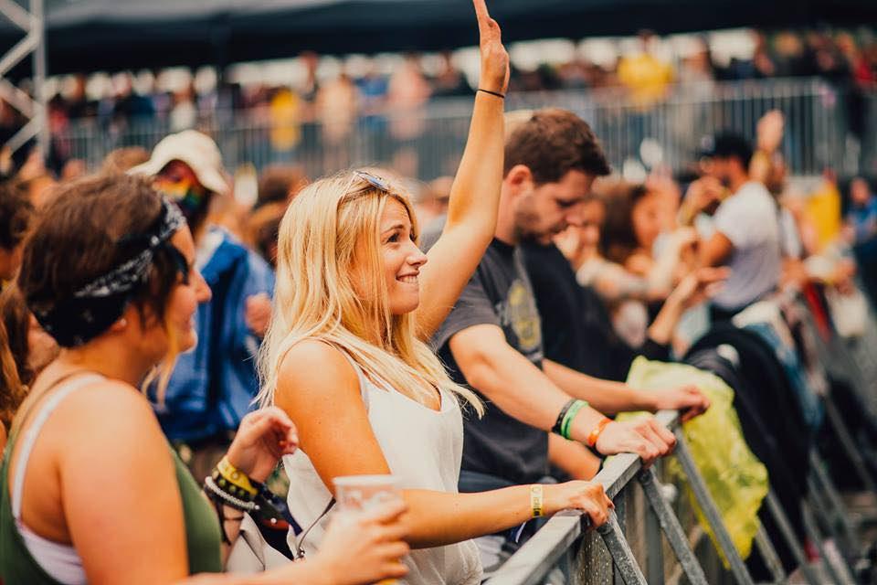 Front row girl at NOS Primavera Sound Festival