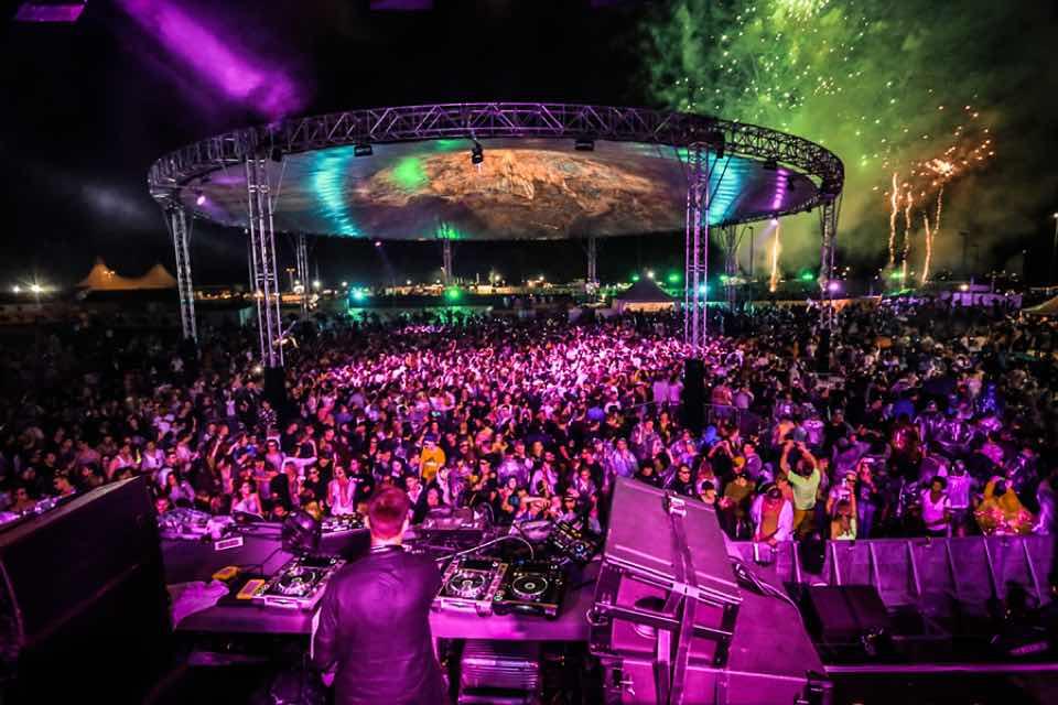Under the spaceship dancing at NOS Primavera Sound Festival