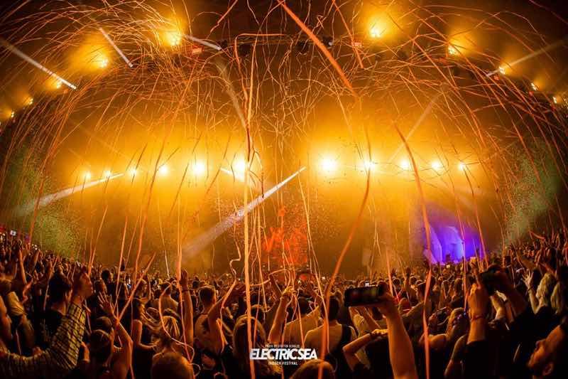 confetti stage at Electric Sea festival