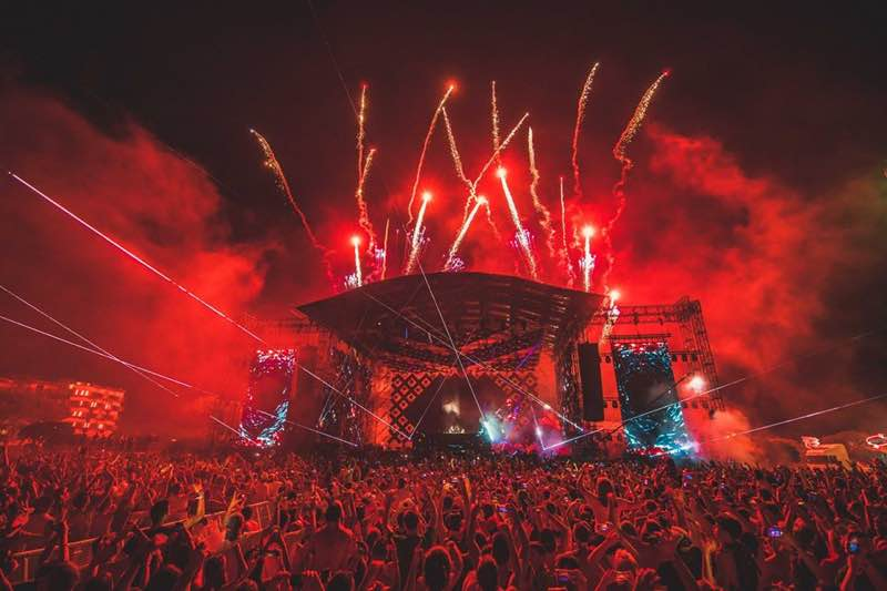 Fireworks at Electrobeach Music Festival