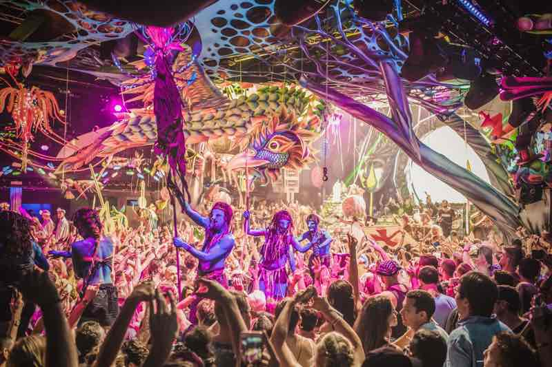 Dancing at elrow Nowmads Midlands Festival