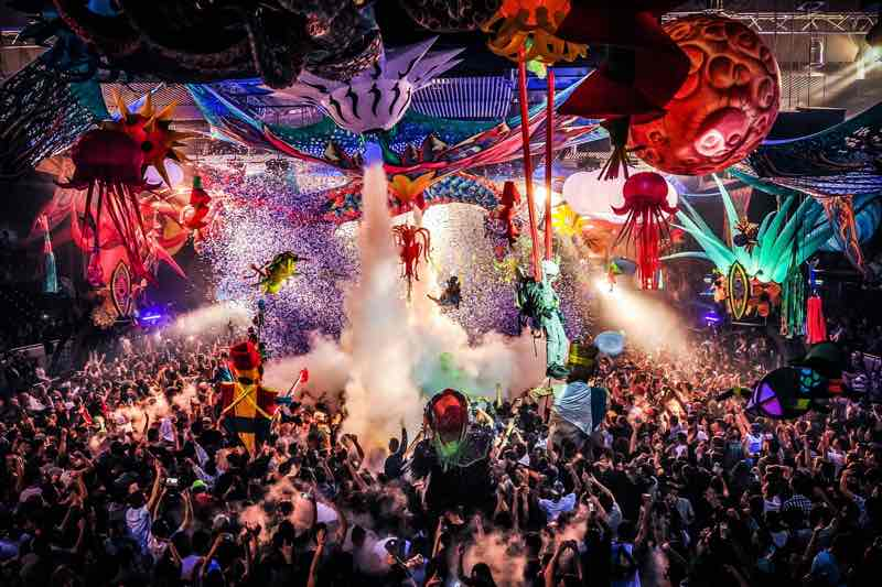 Party confetti at elrow Nowmads Midlands Festival