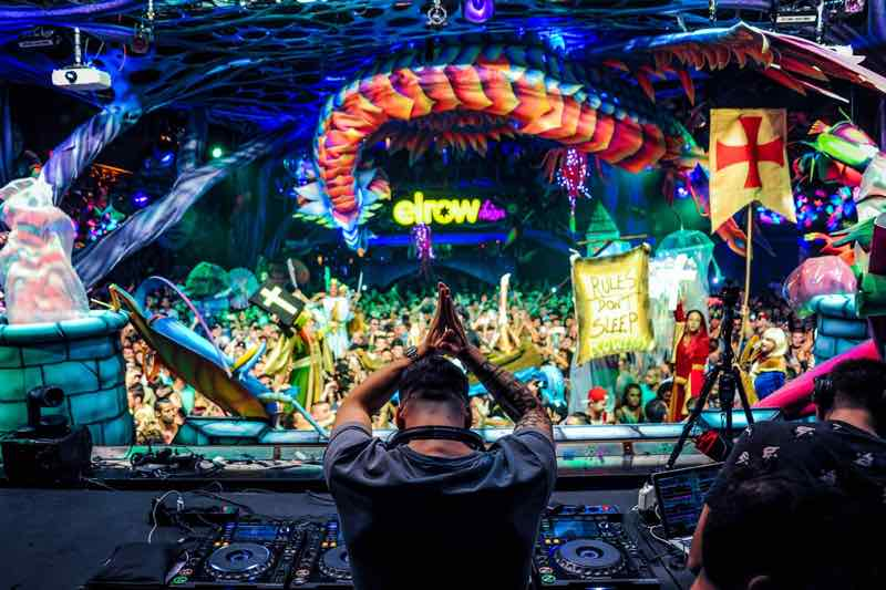 Performing at elrow Nowmads Midlands Festival