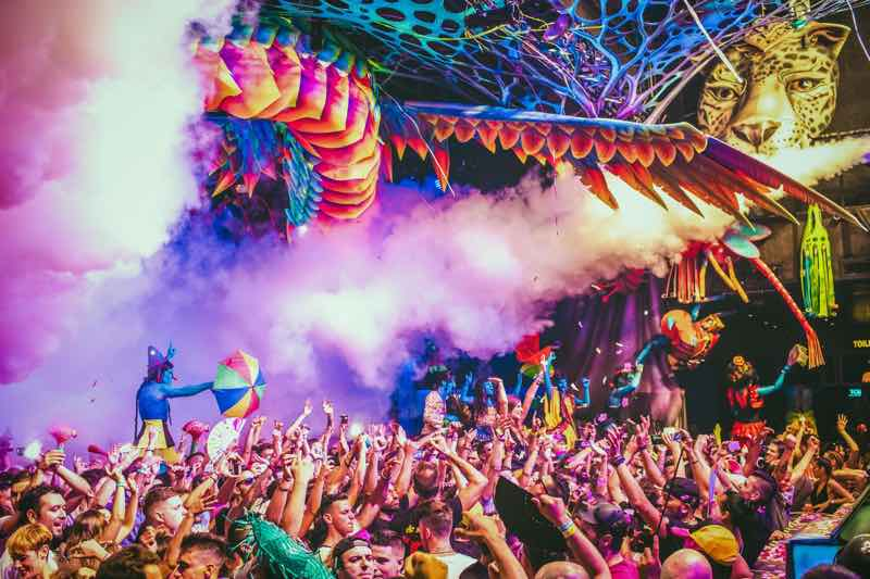 Stage smoking show at elrow Nowmads Midlands Festival