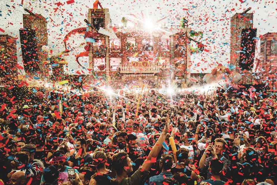 Party stage at Elrow Town Amsterdam Festival