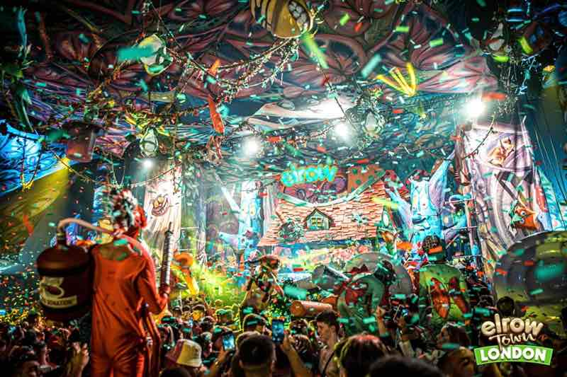Stage confetti at Elrow Town London Festival