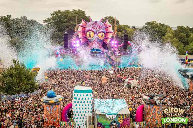 Stage view at Elrow Town London Festival