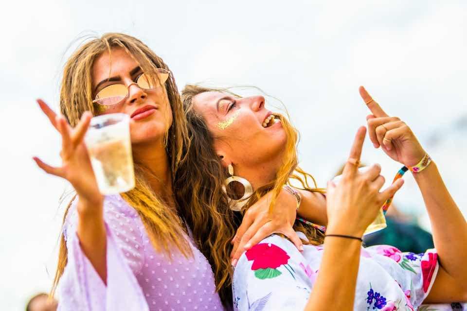Girls having fun at Essential Festival