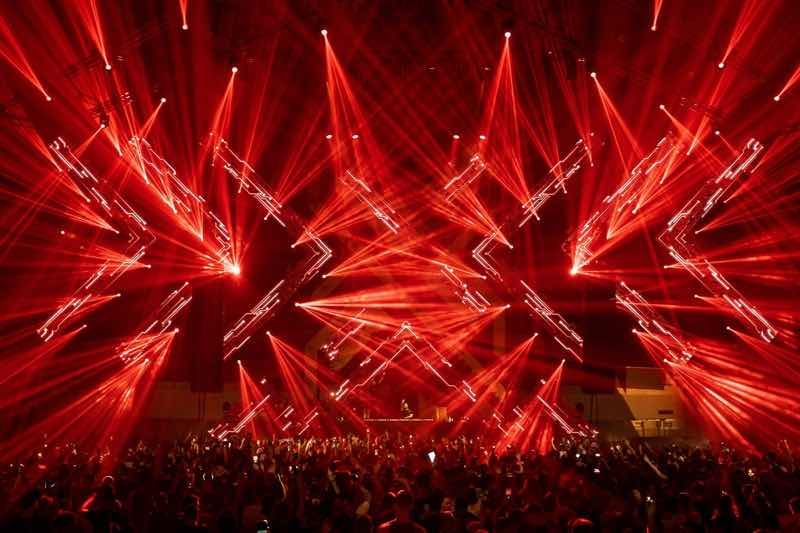 Main stage lights show at Exodus Festival
