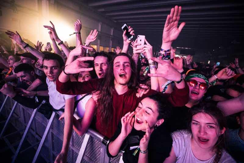 Front row fans at Fcknye Festival Brussels