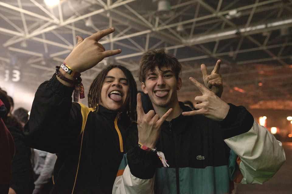 Fans having fun at fcknye Festival Lyon