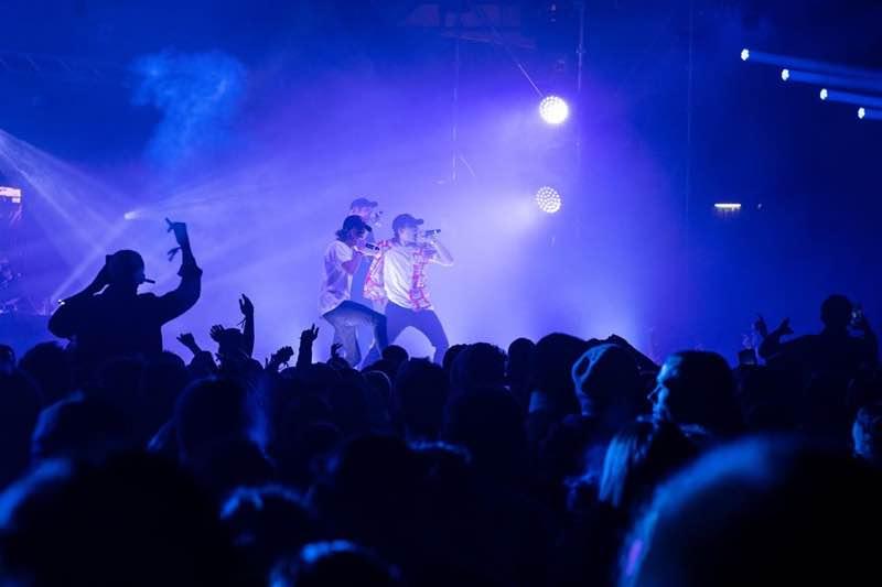 Performing on stage at fcknye Festival Lyon