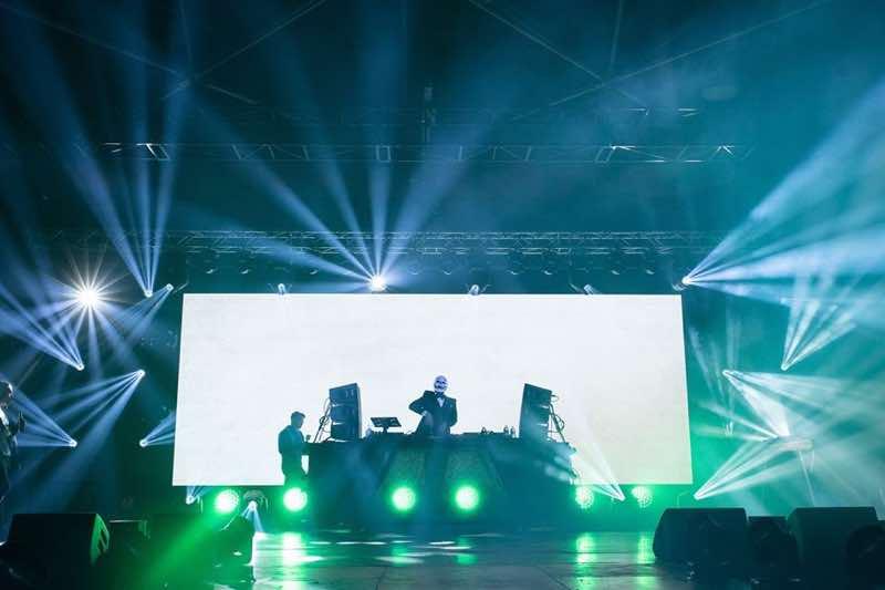 Performing at fcknye Festival Lyon