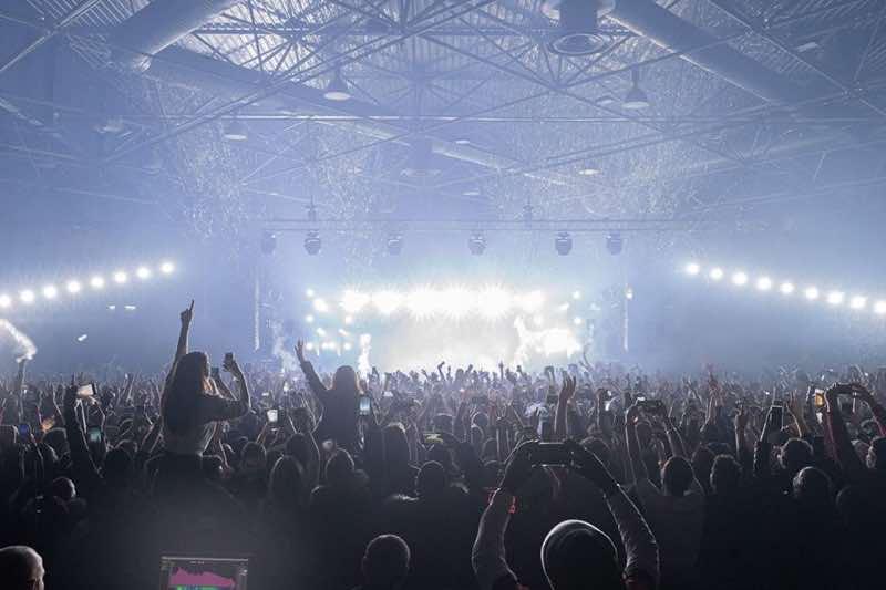 Stage lights show at fcknye Festival Lyon