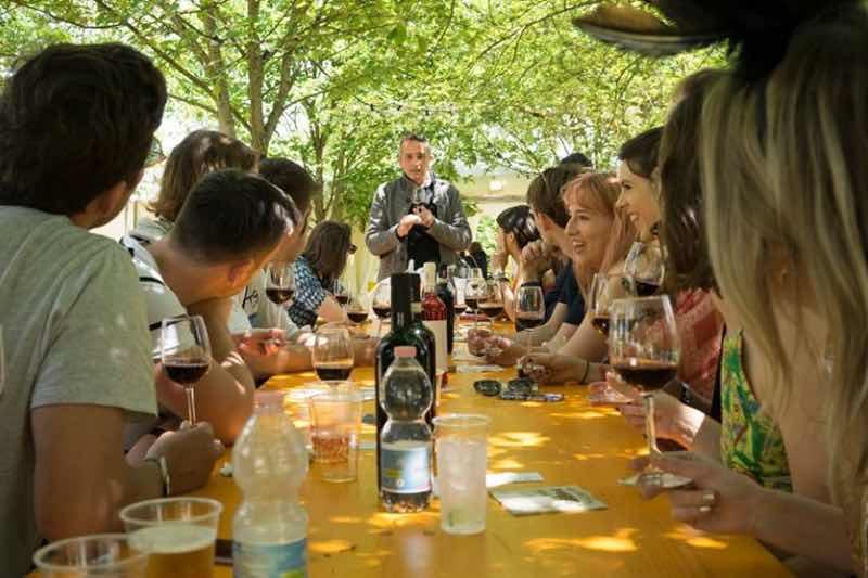 Wine tasting at Flash Festival Tuscany