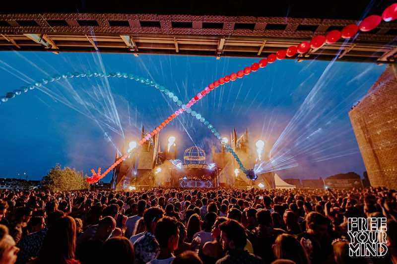 Lights show at Free Your Mind Festival