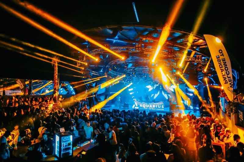 Lights show at Club Aquarius at Fresh Island Festival