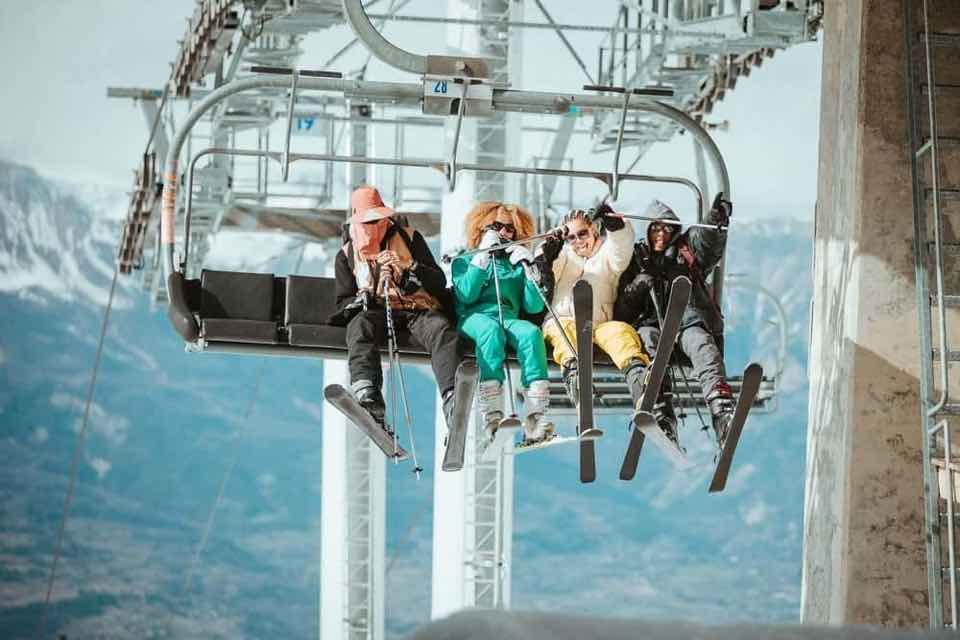 Fans on ski lift at Fresh Mountain Festival