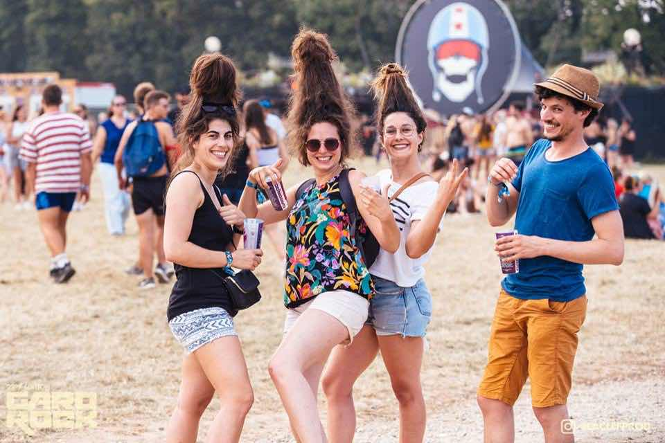 happy fans at Garorock Festival