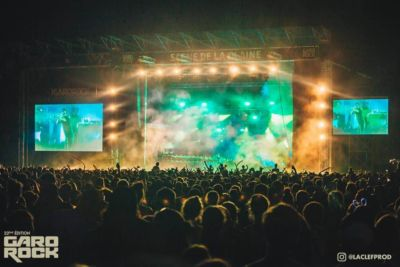 Lights show at main stage at Garorock Festival