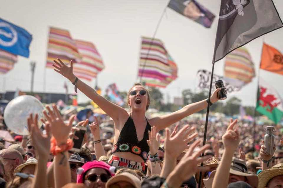 Fans excited at Glastonbury Festival