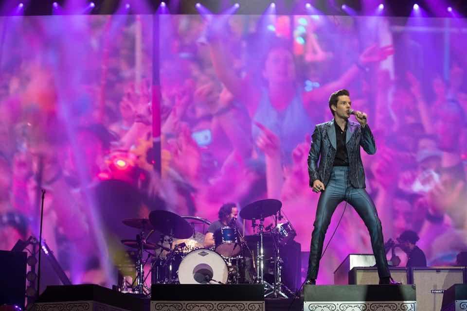 The Killers performing at Glastonbury Festival