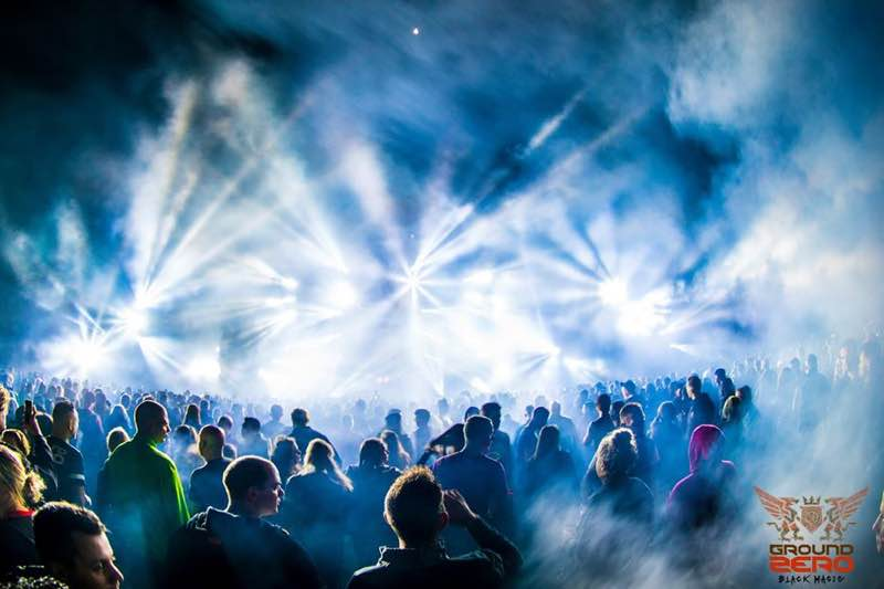 Lights show at Ground Zero Festival