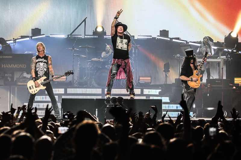 Performing at Guns N'Roses Tour