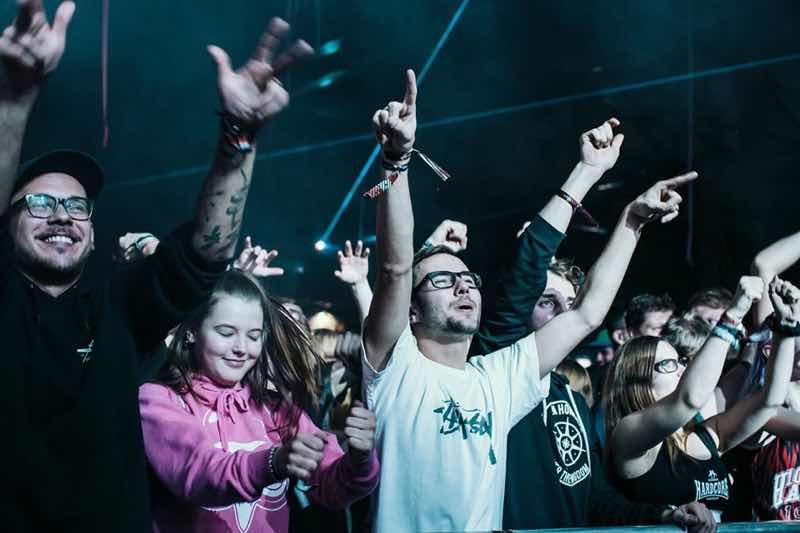 Fans excited at Hardshift Festival